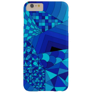 Abstract Design 1 Blue Barely There iPhone 6 Plus Case