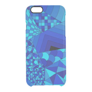 Abstract Design 1 Blue Clear iPhone 6/6S Case