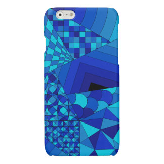 Abstract Design 1 Blue iPhone 6 Plus Case