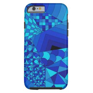 Abstract Design 1 Blue Tough iPhone 6 Case