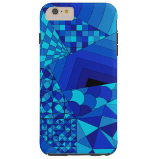 Abstract Design 1 Blue Tough iPhone 6 Plus Case