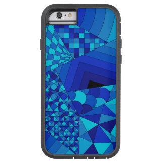 Abstract Design 1 Blue Tough Xtreme iPhone 6 Case