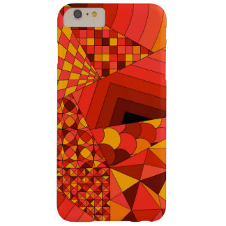 Abstract Design 1 Red Barely There iPhone 6 Plus Case