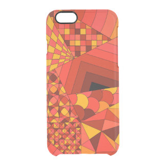 Abstract Design 1 Red Clear iPhone 6/6S Case
