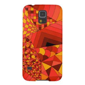 Abstract Design 1 Red Galaxy S5 Case