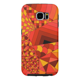 Abstract Design 1 Red Samsung Galaxy S6 Cases