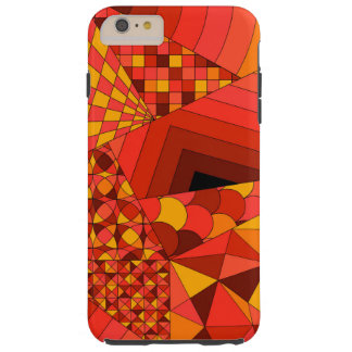 Abstract Design 1 Red Tough iPhone 6 Plus Case