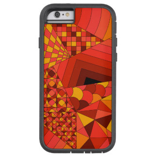 Abstract Design 1 Red Tough Xtreme iPhone 6 Case