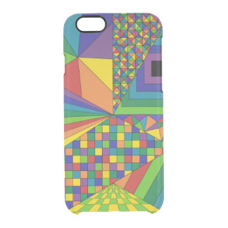 Abstract Design 2 Clear iPhone 6/6S Case