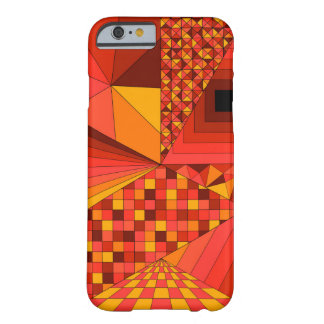 Abstract Design 2 Red Barely There iPhone 6 Case