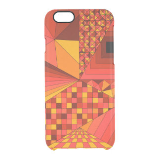 Abstract Design 2 Red Clear iPhone 6/6S Case