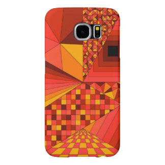 Abstract Design 2 Red Samsung Galaxy S6 Cases