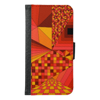 Abstract Design 2 Red Samsung Galaxy S6 Wallet Case