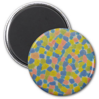 Abstract design 6 cm round magnet