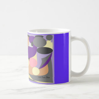 Abstract design basic white mug