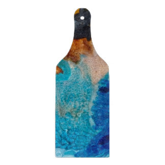 Abstract Design Blue And Brown Background Cutting Board