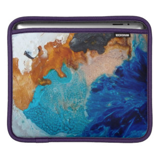Abstract Design Blue And Brown Background iPad Sleeve