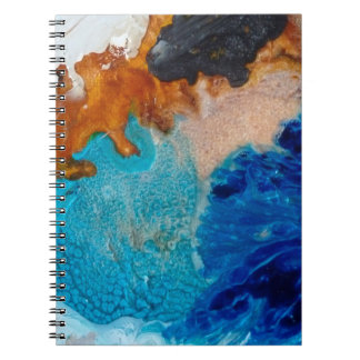 Abstract Design Blue And Brown Background Notebooks