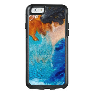 Abstract Design Blue And Brown Background OtterBox iPhone 6/6s Case