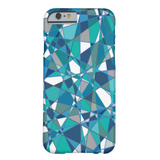 Abstract Design Blue And White Stained Glass Barely There iPhone 6 Case