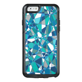 Abstract Design Blue And White Stained Glass OtterBox iPhone 6/6s Case
