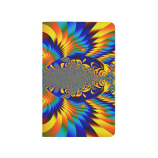 Abstract Design Blue And Yellow Pattern Journal