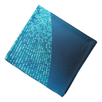 Abstract Design Blue Backround And Silver Spectum Bandana