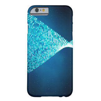 Abstract Design Blue Backround And Silver Spectum Barely There iPhone 6 Case
