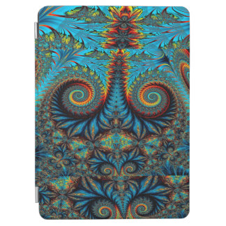 Abstract Design Blue Whirl Background iPad Air Cover