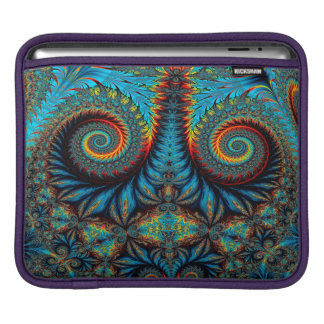 Abstract Design Blue Whirl Background iPad Sleeve