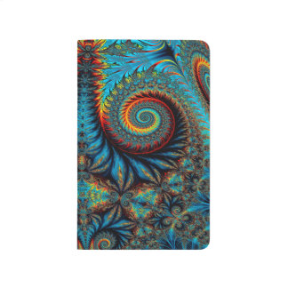 Abstract Design Blue Whirl Background Journal