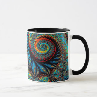 Abstract Design Blue Whirl Background Mug