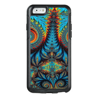 Abstract Design Blue Whirl Background OtterBox iPhone 6/6s Case
