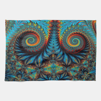 Abstract Design Blue Whirl Background Tea Towel