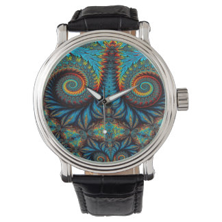 Abstract Design Blue Whirl Background Watch