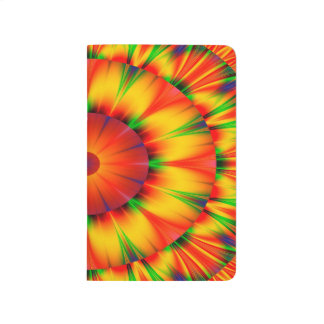 Abstract Design Bright Concentric Circles Journal