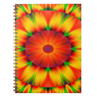 Abstract Design Bright Concentric Circles Spiral Notebook