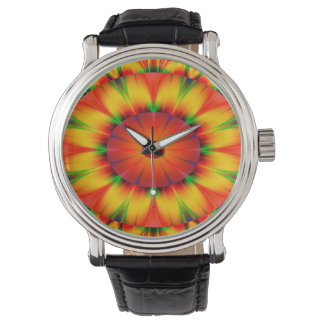 Abstract Design Bright Concentric Circles Watch