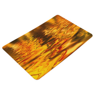 Abstract Design Bright Water Surface Floor Mat