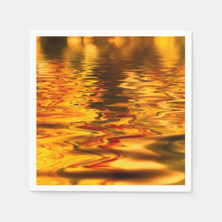 Abstract Design Bright Water Surface Paper Serviettes