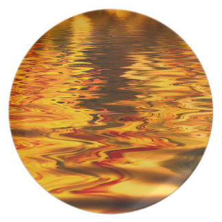 Abstract Design Bright Water Surface Plate