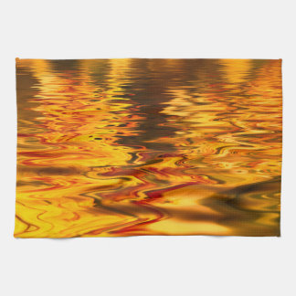 Abstract Design Bright Water Surface Tea Towel