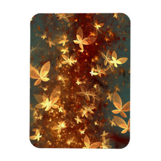 abstract design butterflies fractal rectangular photo magnet