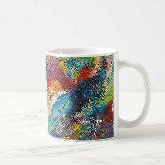 Abstract design by Viktor Tilson Basic White Mug