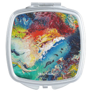Abstract design by Viktor Tilson Compact Mirror