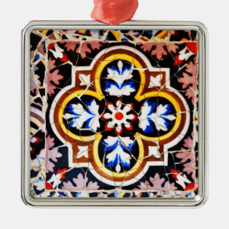 Abstract design christmas ornament