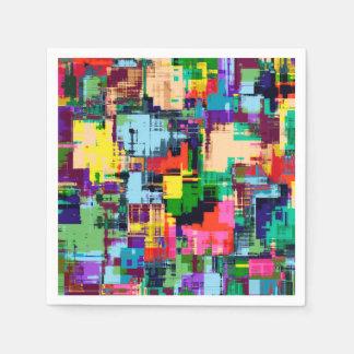 Abstract Design Color Pattern Disposable Serviette