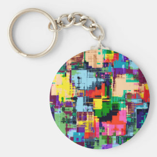 Abstract Design Color Pattern Key Ring