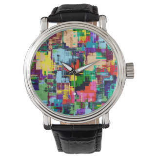 Abstract Design Color Pattern Watch