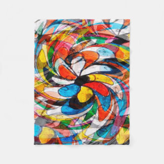 Abstract Design Color Whirl Background Fleece Blanket